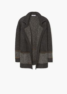 Lapel wool-blend cardigan - Women | MANGO USA