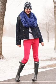 January 12, 2012 by What I Wore, via Flickr - an outfit that makes rainy days more fun!