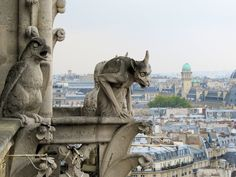 Notre Dame's Gargoyles (Paris, France)  Hanging out atop Notre Dame in Paris has to have its perks and I'd like to get a gargoyle's take on it all. Are they really the devices of damnation that they've been made out to be or are they more like the wise-cracking, often articulate Disney version? What was Quasimodo like? Do they hate pigeons? These are the things that keep me up at night and if they don't for you as well, then you have my pity.