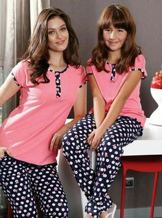 Pijamas Stylish Dresses For Girls, Stylish Girls Photos, Little Girl Dresses, Girls Dresses, Cute Sleepwear, Girls Sleepwear, Cute Pajamas, Pajamas Women, Night Suit For Women