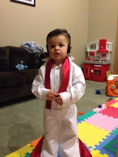 Cool homemade baby elvis costume elvis costume homemade baby home made elvis costume for my two year old son purchases stick on side burns solutioingenieria Image collections