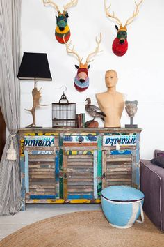 Lucy Fenton has founded Fenton&Fenton out of a desire to combine her love of travel with her passion for vibrant and unusual home furnishings and artefacts. Reclaimed Furniture, Recycled Furniture, Green Furniture, Reclaimed Timber, Retro Furniture, Crochet Deer, Eclectic Decor, Interior Design Inspiration, Wood Pallets