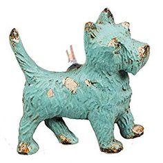 Stunning West Highland Terrier dog Tarnished iron Door knobs - Duck egg Blue distressed painted metal westie dog: Amazon.co.uk: DIY & Tools
