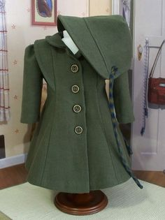 1940s military-inspired coat and hat.  Again, TAILORING.  Ah.  Keepers.