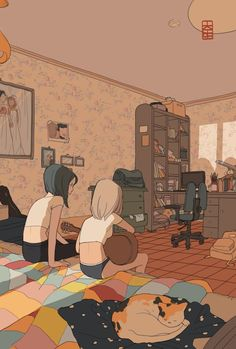 Image uploaded by Whisper. Find images and videos about girl, art and illustration on We Heart It - the app to get lost in what you love. Art Anime, Anime Chibi, Bts Art, Lesbian Art, Pretty Art, Aesthetic Art, Yuri, Art Inspo, Art Reference