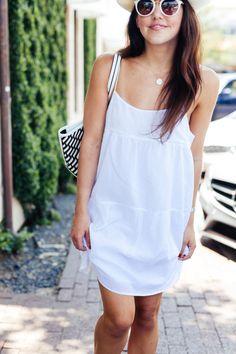 White Strappy Dress - Dallas Wardrobe