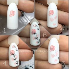 Gel Nail Designs You Should Try Out – Your Beautiful Nails Almond Nails Designs Summer, Nail Designs Spring, Gel Nail Designs, Nail Art Aquarelle, Diy Nails, Cute Nails, Water Color Nails, Golden Nails, Nail Art Techniques