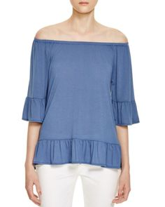 Design History Ruffled Off-The-Shoulder Top