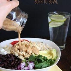 chicken black bean burrito bowl
