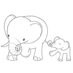 Baby Elephant Coloring Page Beautiful Fun Learning with Baby Elephant Coloring Pages Best Diy Elephant Coloring Page, Baby Coloring Pages, Coloring For Kids, Coloring Sheets, Coloring Books, Cross Stitch Embroidery, Embroidery Patterns, Elephant Colour, Digi Stamps