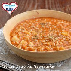 Soup tomato and potato / Minestra di farro, pomodoro e patate | Cirio @hannekeharkema  #foodblogger #pomodoro #ricetta #recipes #tomato #recipe #italianrecipe #zuppa #soup