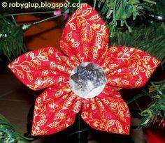 RobyGiup Handmade: Stelle di stoffa per l'albero di Natale - Fabric stars for the Christmas tree