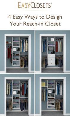 4 Ways to Design Your Reach-in Closet