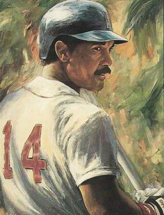 Jim Rice Baseball Painting, Baseball Art, Boston Sports, Boston Red Sox, Jim Rice, Sports Art, Illustrators, Mlb, Paintings