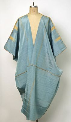 Abayah, Morocco, woven silk with metal-wrapped thread, late century. Metropolitan Museum of Art. Abaya Fashion, Muslim Fashion, Tienda Fashion, Vintage Outfits, Vintage Fashion, Estilo Hippy, Kaftan Style, Mode Hijab, Ao Dai