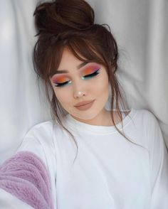 "10.6k Likes, 120 Comments - G i n a B o x ♡ (@ohmygeeee) on Instagram: ""Rainbow Vibes  Brows- @anastasiabeverlyhills pomade in medium brown  Lashes- @shophudabeauty…"""
