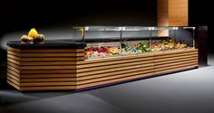 Refrigerated counter display case / for shops - EBONY - criocabin