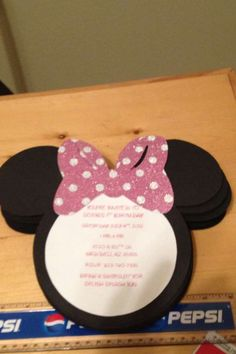 Do it yourself minnie mouse invitations perfect for a minnie mouse minnie mouse birthday party ideas solutioingenieria Images