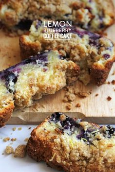 Lemon blueberry coffee cake!  Photography: Grandbaby Cakes  Read More: http://www.stylemepretty.com/living/2014/04/02/lemon-blueberry-coffee-cake-recipe/