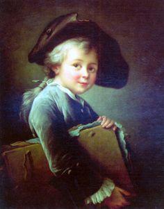 François Hubert Drouais (1727 – 1775, French) - Portrait Of The Artist As A Young Man