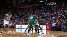 James Harden Throws a Pass Through Brandon Bass' Legs