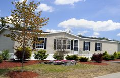mobile home landscaping pictures | Double Wide Home on Landscaped Property. Inspiration for setting