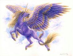 Pegasus - Almalphia Commission by pallanoph Unicorn Horse, Unicorn Art, Magical Creatures, Fantasy Creatures, Elf Warrior, Winged Horse, Unicorn Pictures, The Last Unicorn, Fantasy Illustration