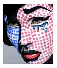 ideas para hacer un maquillaje pop art para disfraz   Todo Halloween