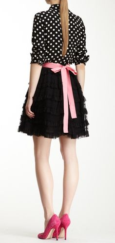 Dots, tulle & bow. everything i love in one outfit!