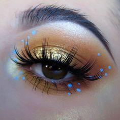 """WEBSTA @ kaynadianbeauty - Inspired by an @alexandra_anele oldie, her Instagram is one of the ones that inspired me to start posting on here. SO GOOD♀️.@nyxcosmetics_canada jumbo eye pencil milk,@looxi_beauty eyeshadows in """"wheatness"""", """"buttercup"""",""""honeybun"""", """"far out"""" on center lid,gold leaf, @looxi_beauty highlighter """"stiletto"""" (USE KB10 to save!!),@stilacosmetics eyeshadow """"kitten"""",@winkmywayxo lashes in """"the signature"""""""