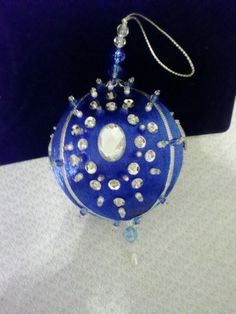 'Blue or White Jeweld Ornaments' is going up for auction at  8am Fri, Jun 28 with a starting bid of $13.