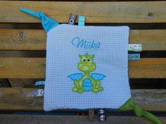 Schnullertücher - Knistertuch *Drache * Rasseltuch Schmusetuch - ein Designerstück von Rine31 bei DaWanda