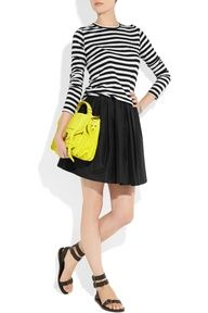 Proenza Schouler top and bag, Mulberry skirt, Pedro Garcia shoes