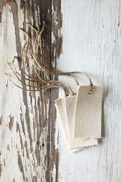 Canvas Gift Tags, Handmade
