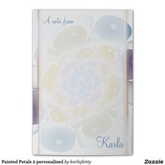 Painted Petals 2 personalized Post-it® Notes