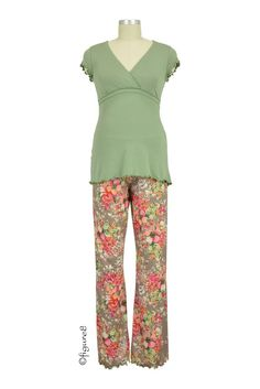 Majamas Genna Nursing PJ Set in Oasis. Please use coupon code NewProducts to receive 15% off these items. To receive the discount, please place your order by midnight Monday, July 20, 2015