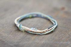 Claspless collana di perline con Opale peruviano, Multi Bracciale, gioielli di perline di seme, Beaded Bracciale Stretch