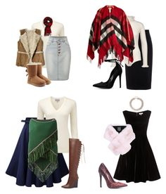 """""""How to wear skirts/dress for the fall/winter"""" by gods-fashion-design on Polyvore featuring Pure Collection, Antonia Zander, LE3NO, Lilly e Violetta, Hollister Co., UGG, Abercrombie & Fitch, Raoul, Chictopia and Burberry"""