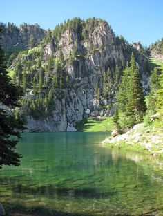 Bloomington Lake - 1/2 mile hike after 15-20 mile drive on an unpaved road. Bloomington Lake is one of the most beautiful lakes in the northern Utah / southern Idaho region. The newly re-vamped roads and trails are user-friendly and the hike (besides a steep climb of about 100 yards at the beginning) is quite easy as well. The trail is sprinkled with beautiful wildflowers with pine trees and green shrubbery all around.