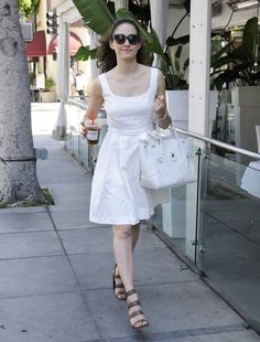 Shameless actress Emmy Rossum is spotted out and about in Beverly Hills. Emmy has been enjoying her summer by traveling as much as she can before filming starts on Season 6 of Shameless.