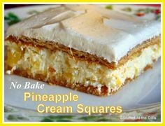 Anne's Pineapple Cream Squares--No Bake