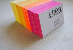 edge painted cards in neon by moglea
