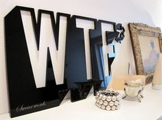WTF 3D wall decoration by OptimisticLiving