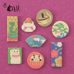 Adorable little incense chips! You can enjoy the designs and scent they give off without burning in the beginning, and light them once the surface scents begin to fade to enjoy them one more time. Spot Illustration, Graphic Design Illustration, Cute Japanese, Japanese Design, Japan Facts, Posca Art, Asian Design, Idee Diy, Maneki Neko