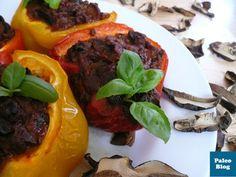 Papriky zapečené s hovězí směsí s lesními hříbky / peppers stuffed with beef and mushrooms