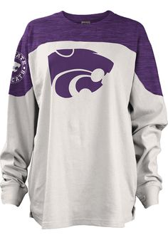 K-State Wildcats Womens Purple Cannondale LS Tee - Image 1 Kansas State University, Kansas State Wildcats, Purple T Shirts, College Girls, Fashion Outfits, Womens Fashion, Sweatshirts, Tees, Long Sleeve