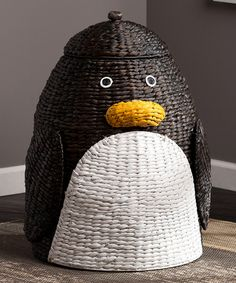 Look at this Penguin Laundry Hamper on #zulily today!