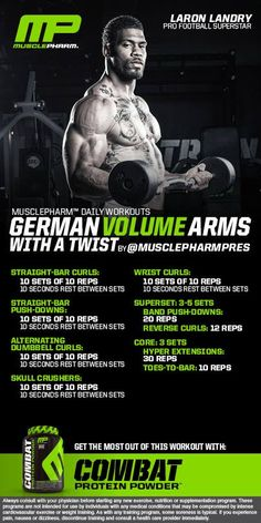 German Volume Arms with a twist