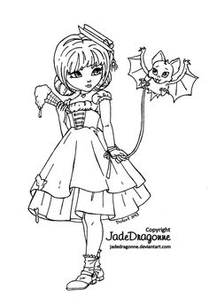 The little bat - lineart by JadeDragonne on deviantART