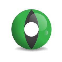 Cobra Eye - Grünes Schlangenauge (grün schwarze Kontaktlinse)